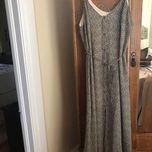 Sienna Sky leopard print button up dress